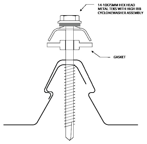 KingKlip 700<sup class='fm-sup'>®</sup> CYCLONIC Figure KK CY Screw Fixing Detail 007