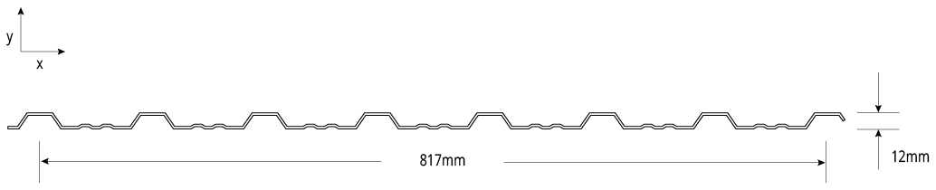 Lo-Rib™ NON-CYCLONIC Profile Cross Section