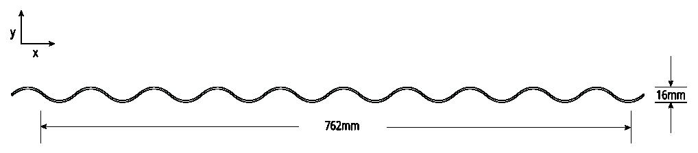 S-Rib™ Corrugated NON-CYCLONIC Profile Cross Section