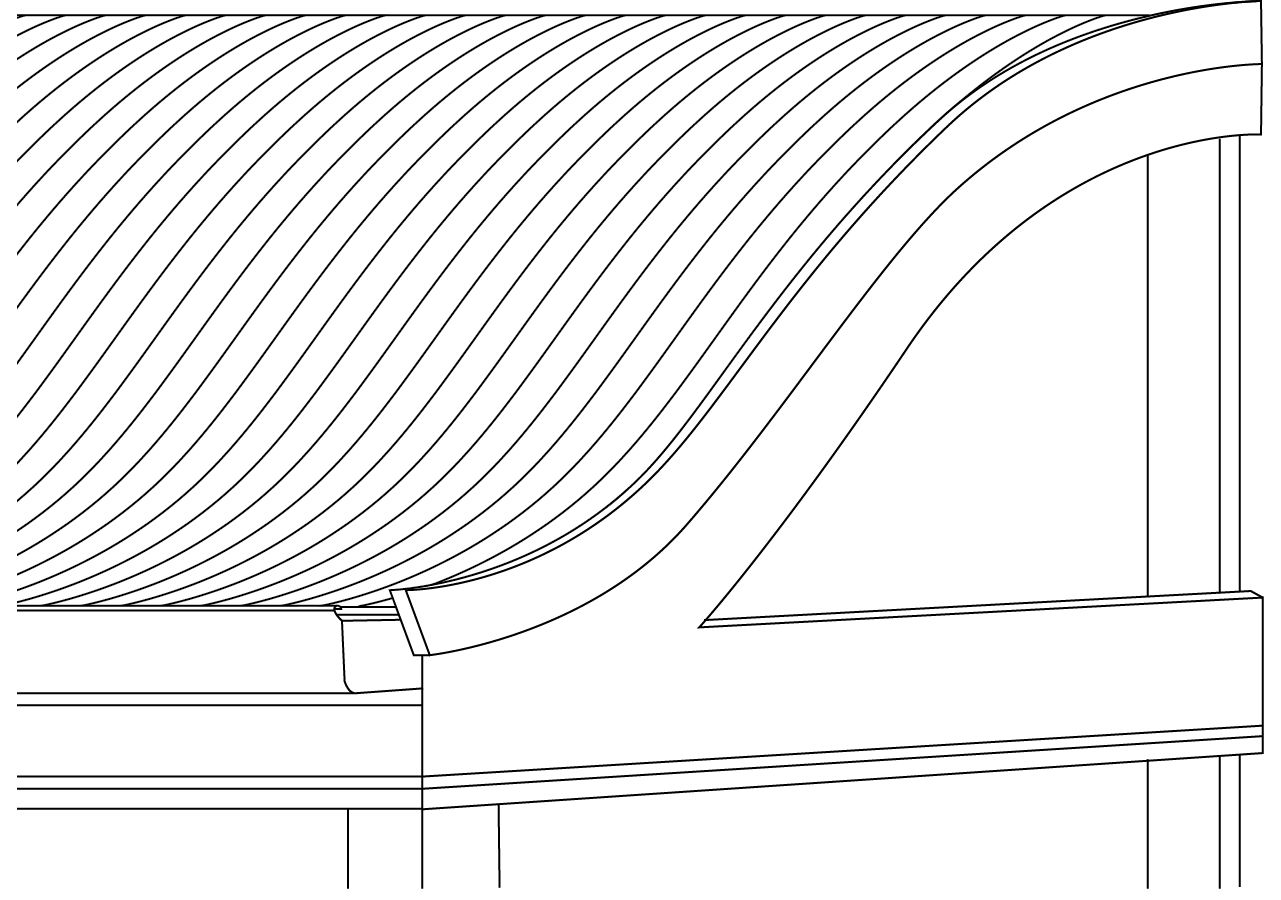 S-Rib™ Corrugated Non-Cyclonic Curved Flashings