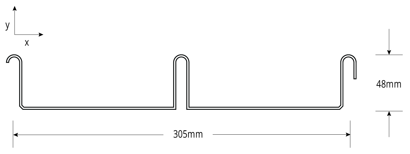 SHADOWLINE™ WA NON-CYCLONIC Profile Cross Section