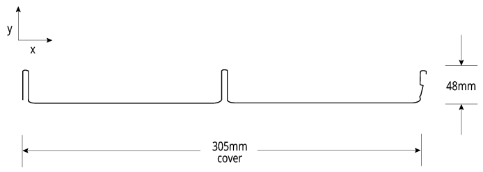 SHADOWLINE™ 305 NON-CYCLONIC Profile Cross Section