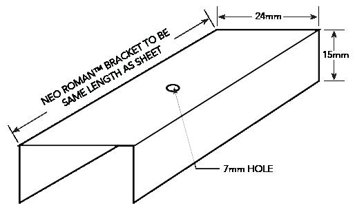 NEO ROMAN™ NON-CYCLONIC Installation Details Neo Roman Bracket Figure NR ID NC 005