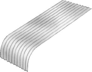 S-Rib™ Corrugated NON-CYCLONIC Bull Nosing