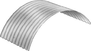 S-Rib™ Corrugated NON-CYCLONIC Radius Curve (Deep Curve)