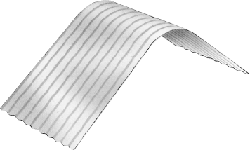 S-Rib™ Corrugated NON-CYCLONIC Ridge Curve and Bullnoosing with extended straight section